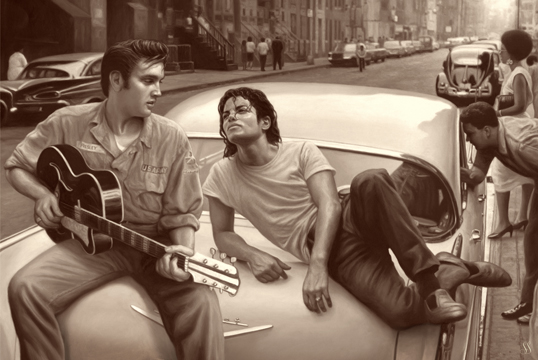 ELVIS AND MICHAEL POSTER 1