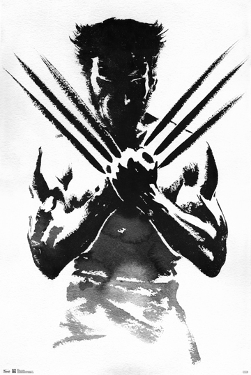 WOLVERINE BLACK AND WHITE POSTER 1
