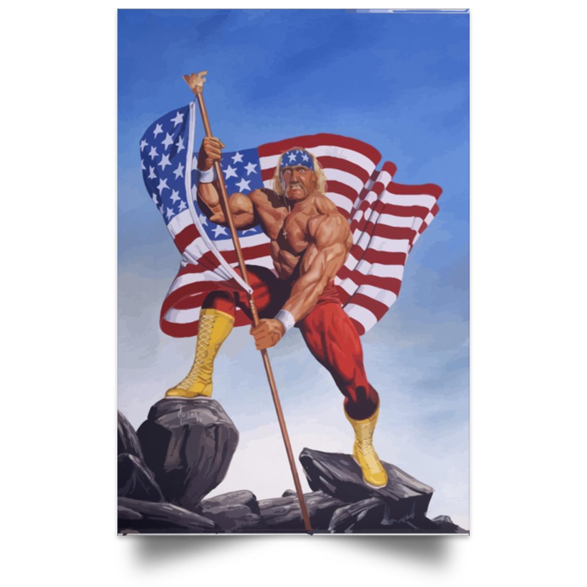 HULK HOGAN AMERICAN FLAG POSTER 1