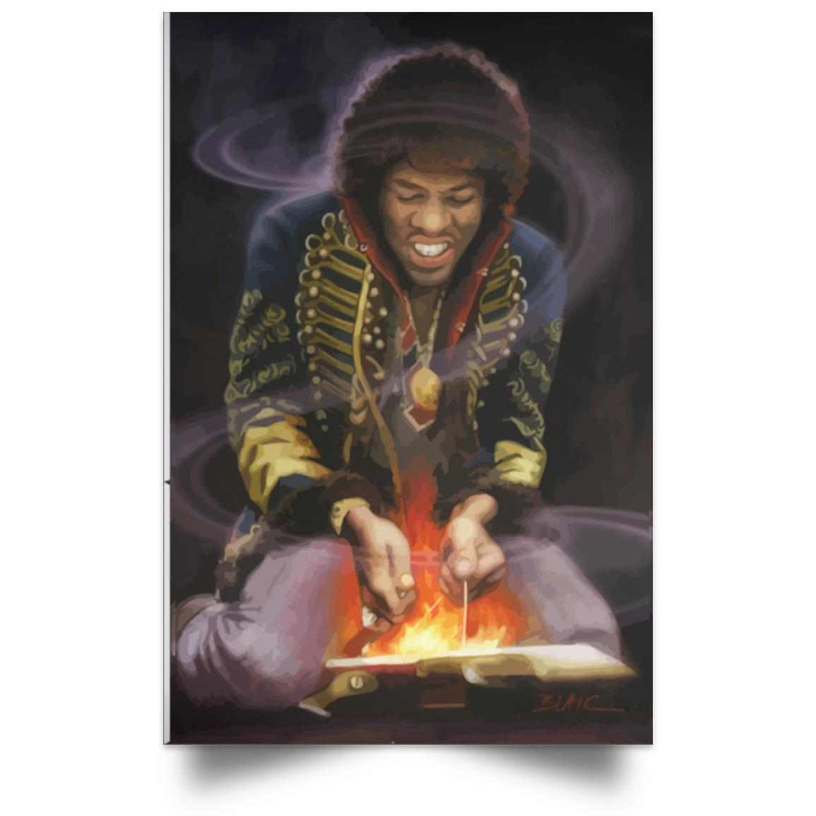 JIMI HENDRIX FEEL MY FIRE POSTER 1