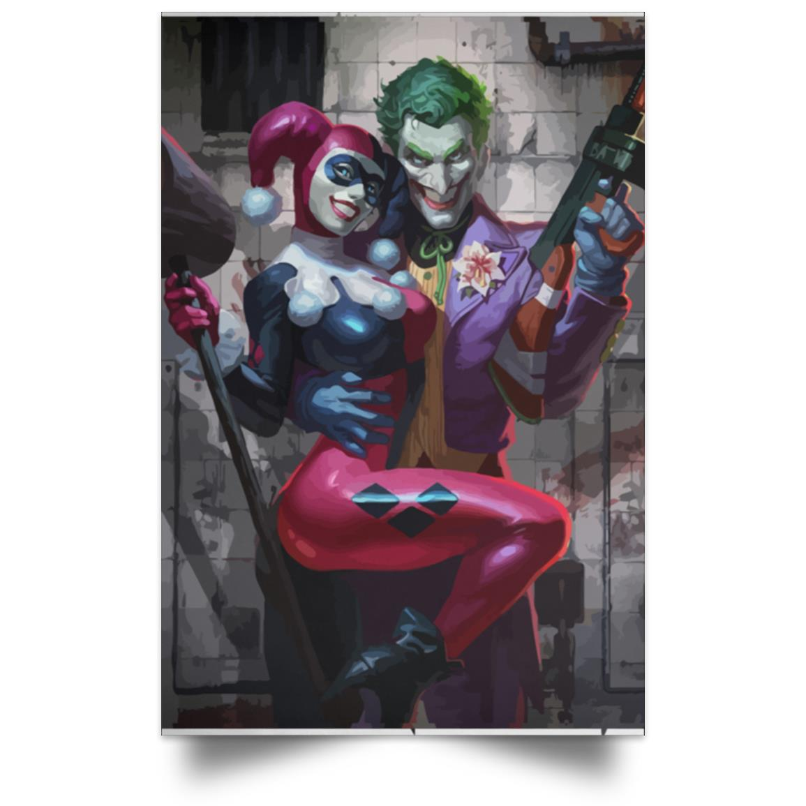 JOKER AND HARLEY QUINN TOGETHER POSTER 1