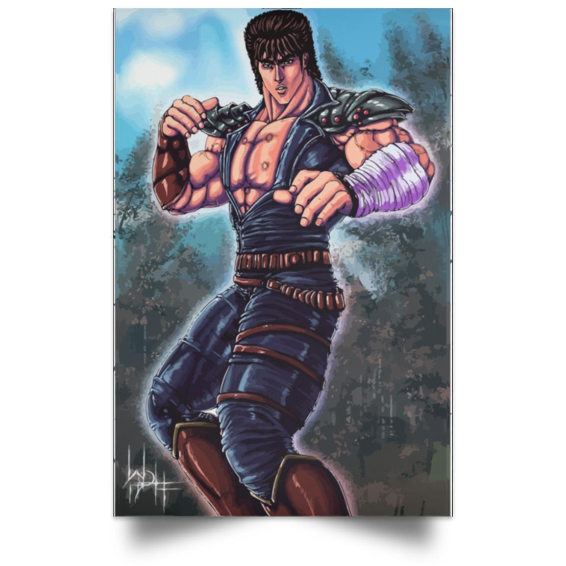 POSTER FIST OF THE NORTH STAR KENSHIRO PRÊT À COMBATTRE 1