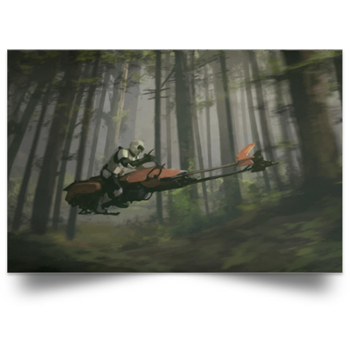 STAR WARS SCOOT TROOPER ON ENDOR RIDE POSTER 1