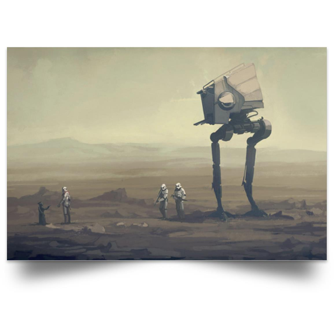 STAR WARS AT-ST WALKER RIDE ON TATOOINE POSTER 1